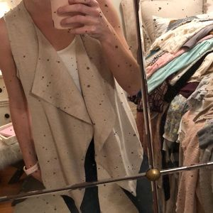 Micro suede fabric Christopher banks vest w tags